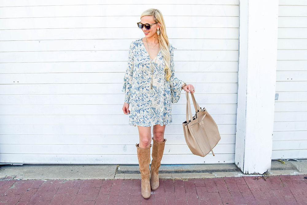 vandi-fair-dallas-fashion-blog-lauren-vandiver-southern-blogger-lush-whitney-bell-sleeve-woven-shift-dress-open-back-ugg-ava-tall-water-resistant-suede-boot-chestnut-4
