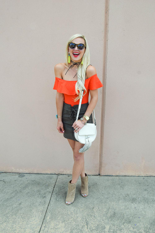vandi-fair-blog-lauren-vandiver-dallas-texas-southern-fashion-blogger-nordstrom-leith-faux-suede-lace-up-miniskirt-skirt-topshp-ruffle-off-the-shoulder-bodysuit-1