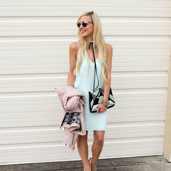 vandi-fair-dallas-fashion-blog-lauren-vandiver-southern-texas-blogger-topshop-crisscross-strap-slip-dress-mint-green-pearl-black-leather-choker-7