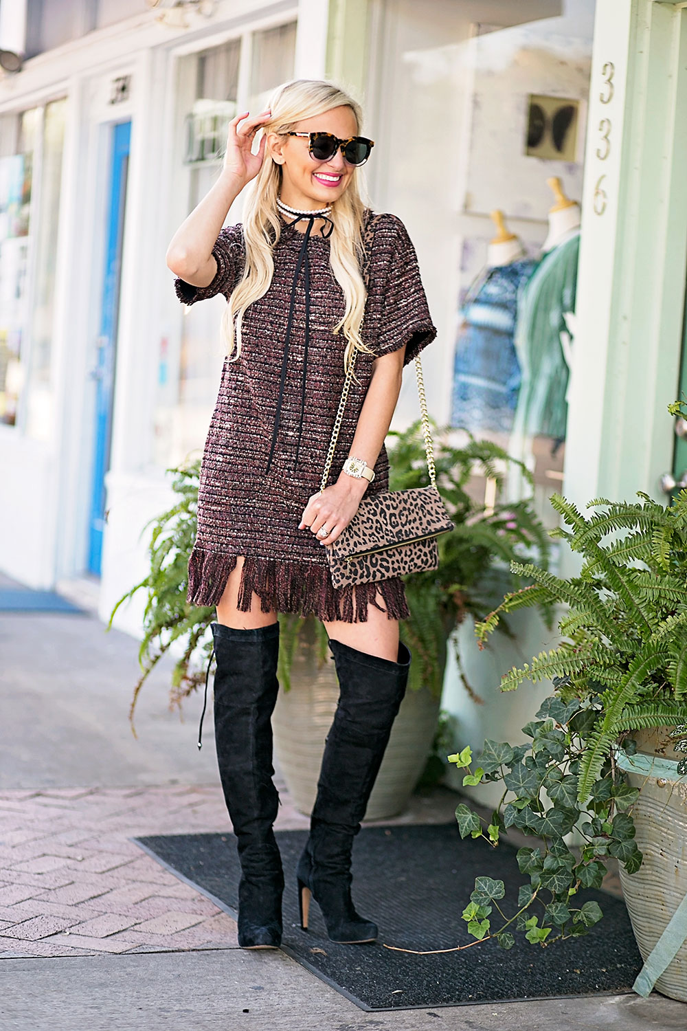 vandi-fair-blog-lauren-vandiver-dallas-texas-southern-fashion-blogger-astr-margo-fringe-shift-hem-dress-wine-over-the-knee-black-boots-2