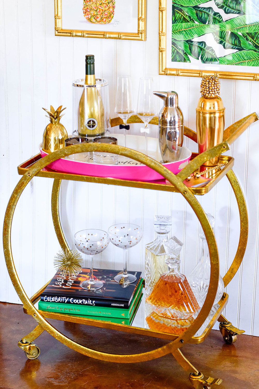 gold-ring-mirror-top-bar-cart