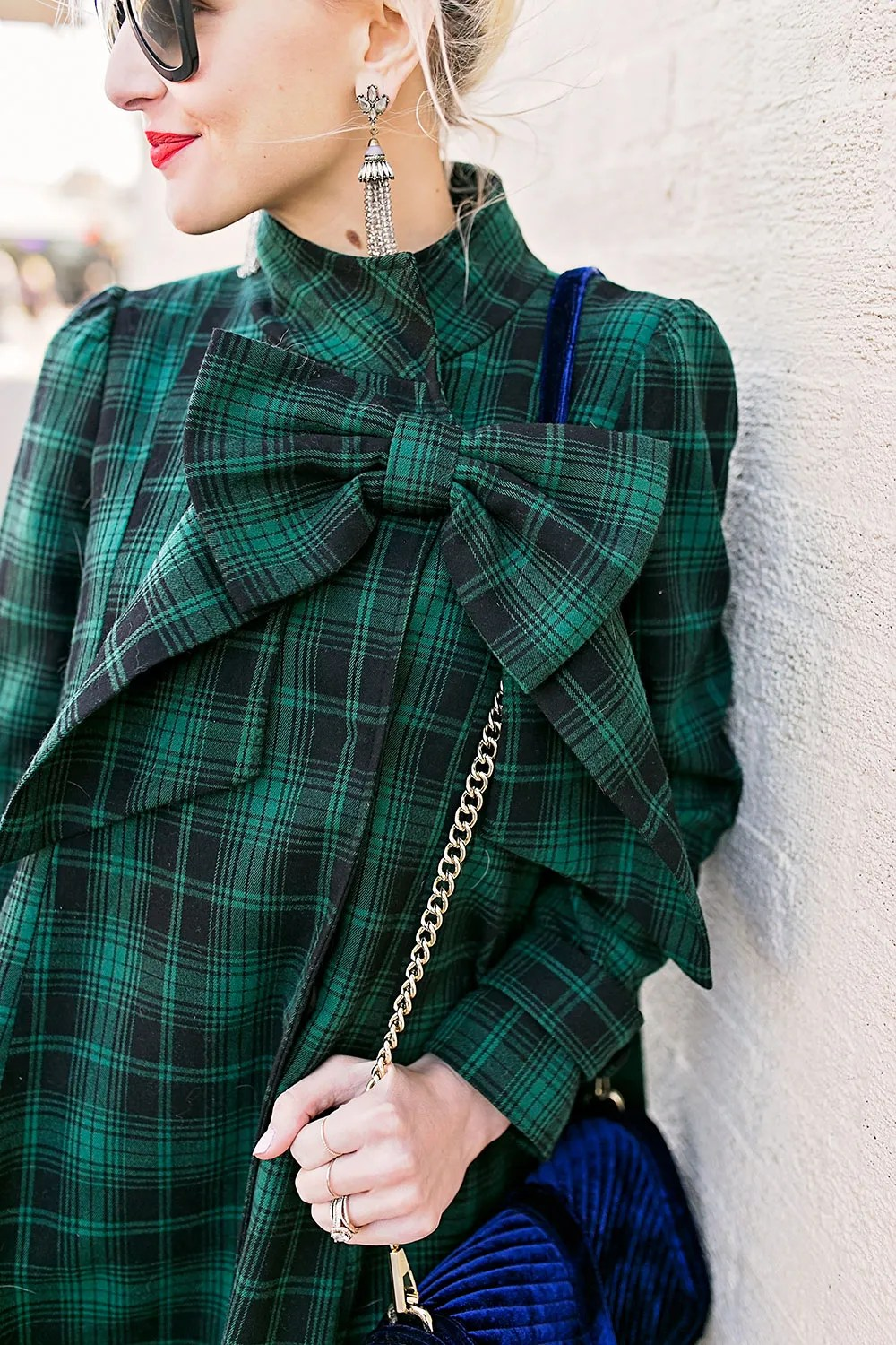 blue-green-tartan-plaid-dress-coat-with-big-bow