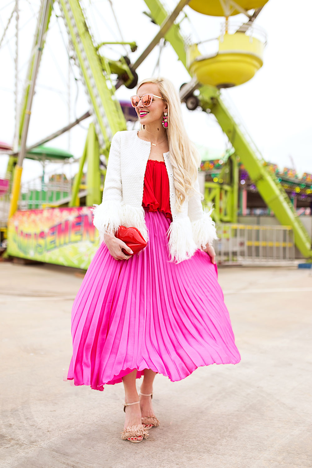 pink-pleated-maxi-skirt