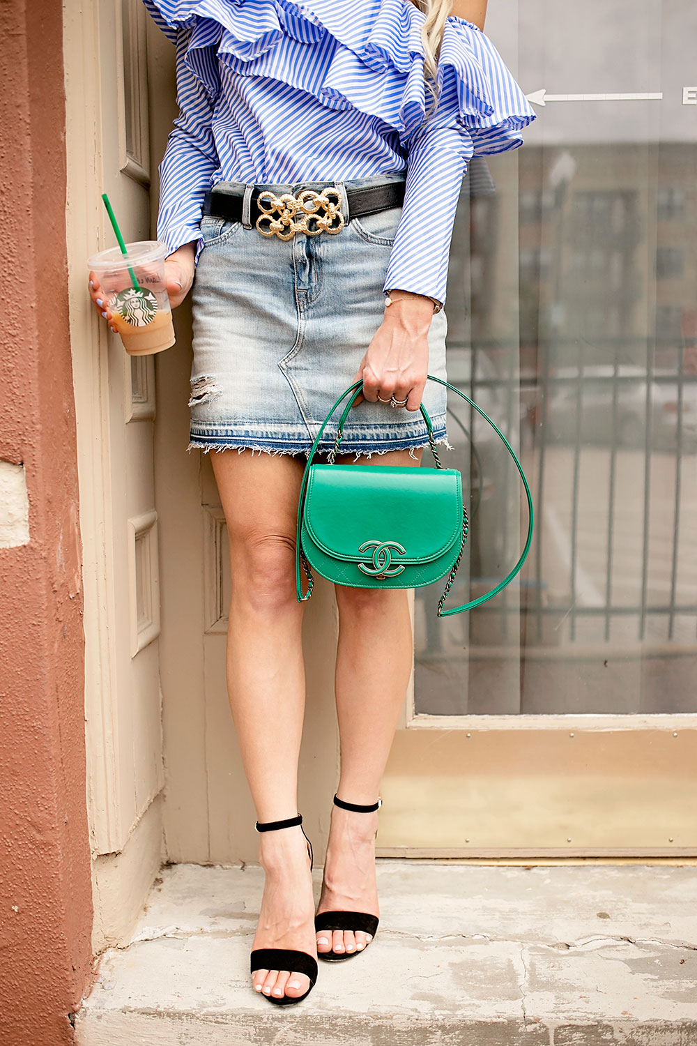 denim-mini-skirt-with-gold-buckle-belt
