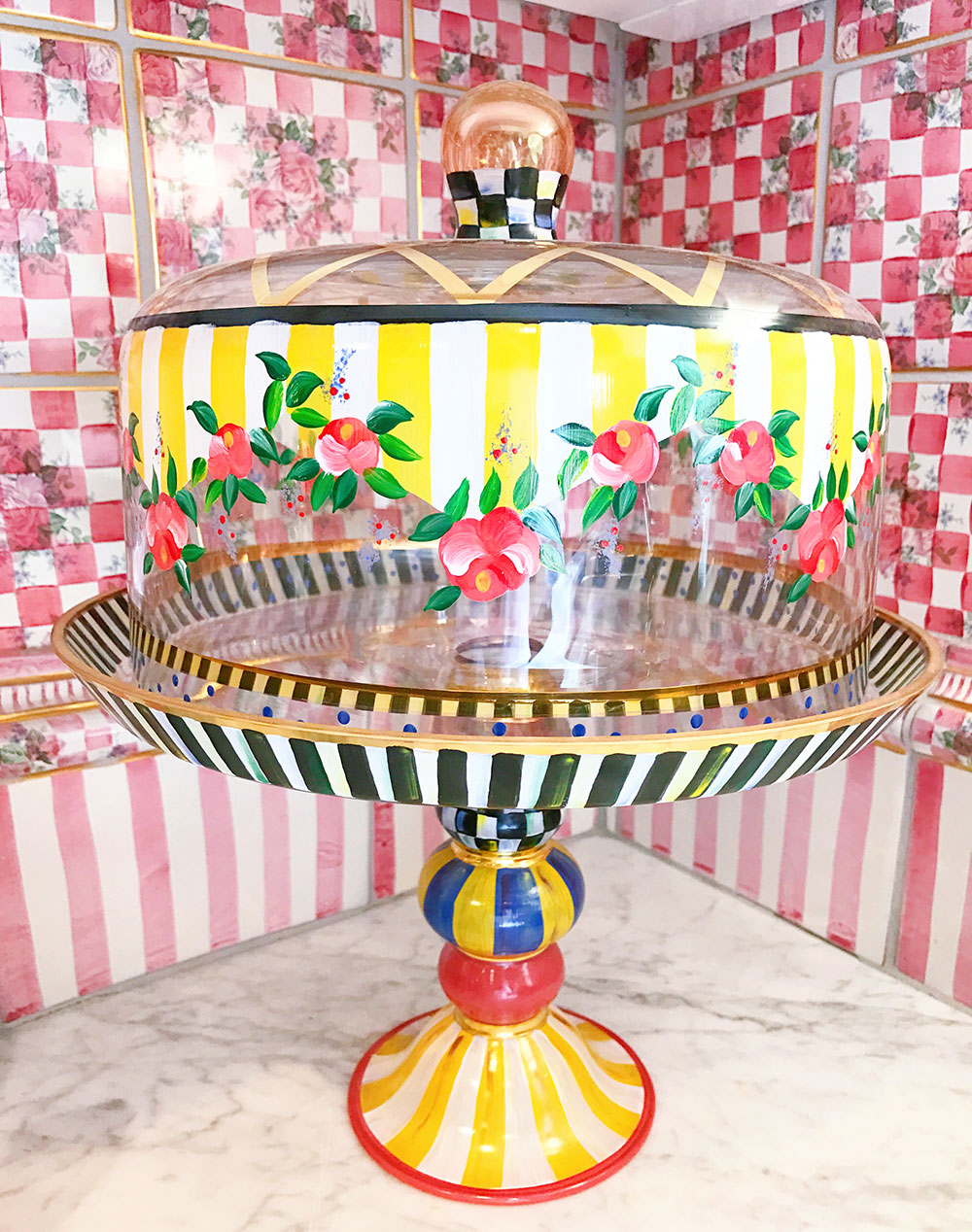 ... mackenzie-childs-hand-painted-cake-stand  sc 1 st  Vandi Fair & The MacKenzie-Childs Farmhouse and Headquarters in Aurora New York