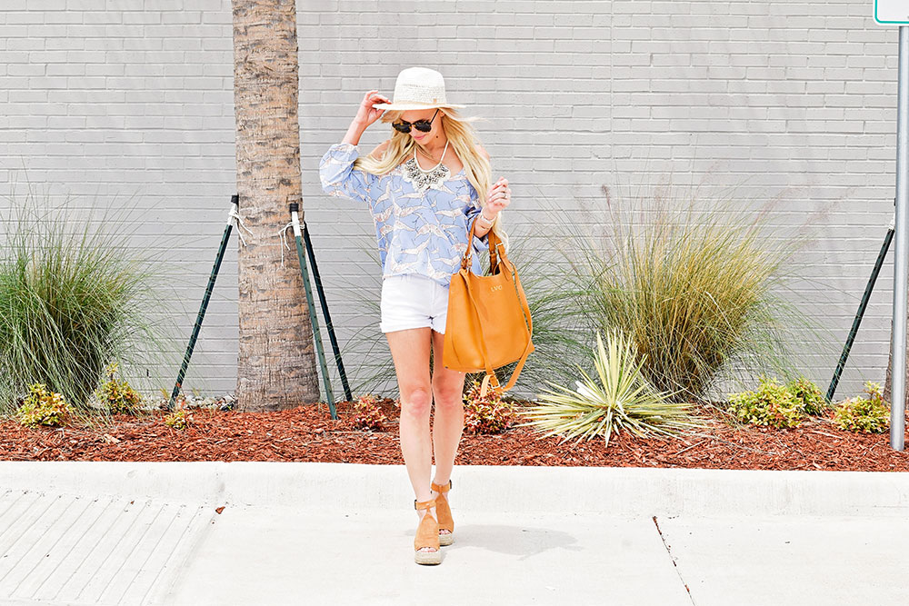 summer-2017-outfit-denim-shorts-and-wedges