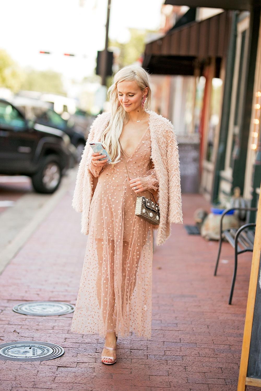 sheer nude maxi dress