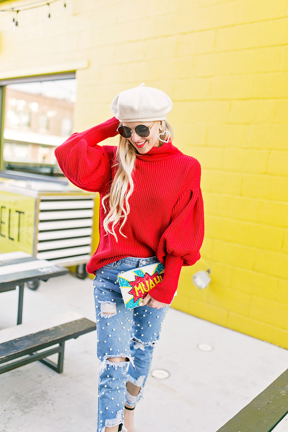 beret hat outfit