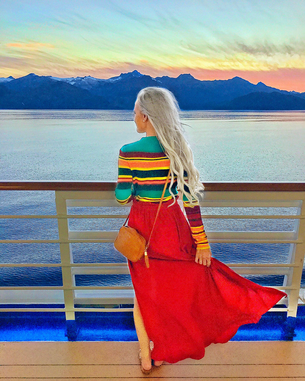 alaska cruise sunset