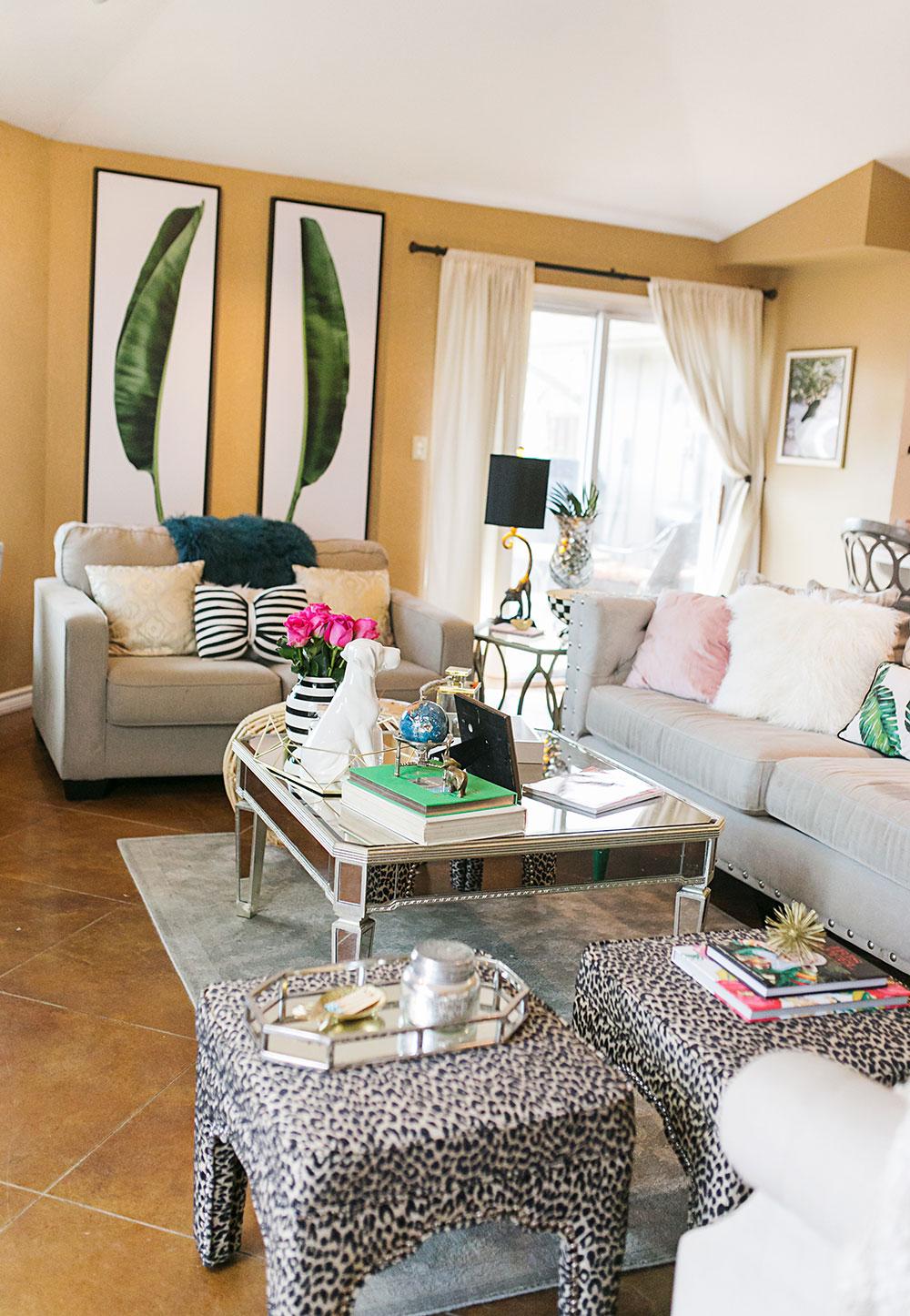 Tropical Living Room Makeover ...