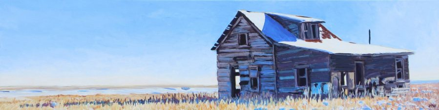South of Cadillac, Acrylic painting, 18x72 inches, Jeff Wilson, 2018