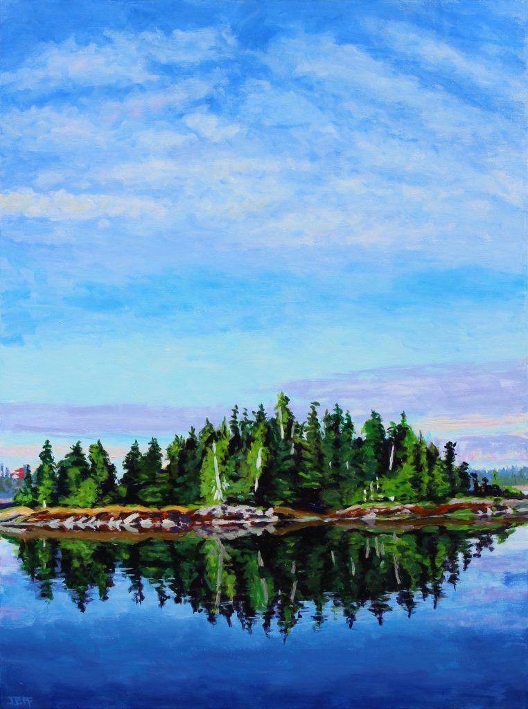 Wainwright Basin, Acrylic painting, 40x30 inches, Jeff Wilson, 2019