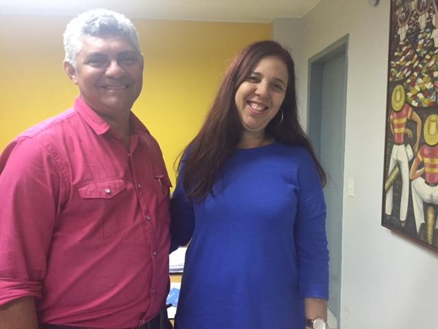 Secretária da Secid, Flávia Alexandrina, garantiu o reinício das obras da Ponte do Balandro.