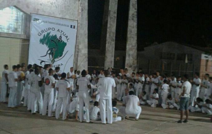 Roda de Capoeira na Praça da Matriz em Pinheiro.