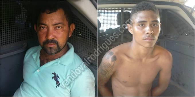 Josenilson Mendes Rodrigues de 36 anos e Antônio José Ferreira de 19 anos, ambos residentes na capital do estado.