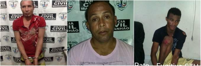 """Adriano Roland vulgo """"Bad Boy"""", Wallace Jani Pereira vulgo """"Walace, Ledinaldo Silva Pereira vulgo """"Pato"""", já foram recapturados."""