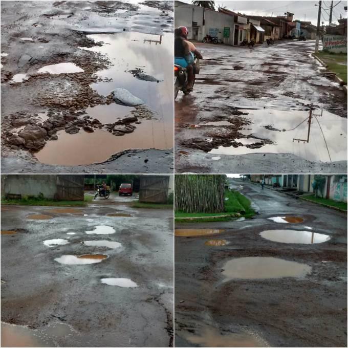 Imagens das ruas abandonadas de Peri Mirim.