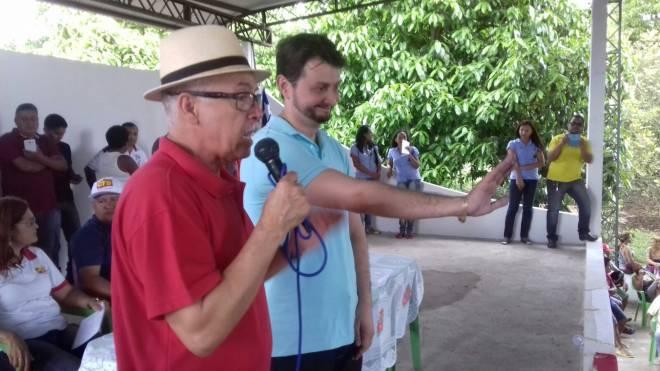 Polêmico deputado Fernando e o Paraibano a quem manifestou apoio