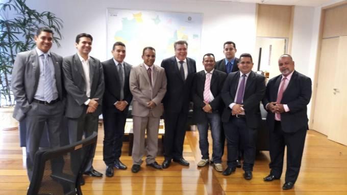 Vereadores de Pinheiro em audiência com o Ministro do Meio Ambiente, Sarney Filho.