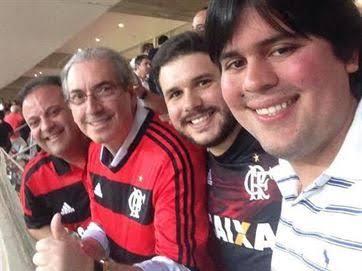 O deputado cassado, Eduardo Cunha, ao lado do amigo, deputado federal, André Fufuca (PP-MA).