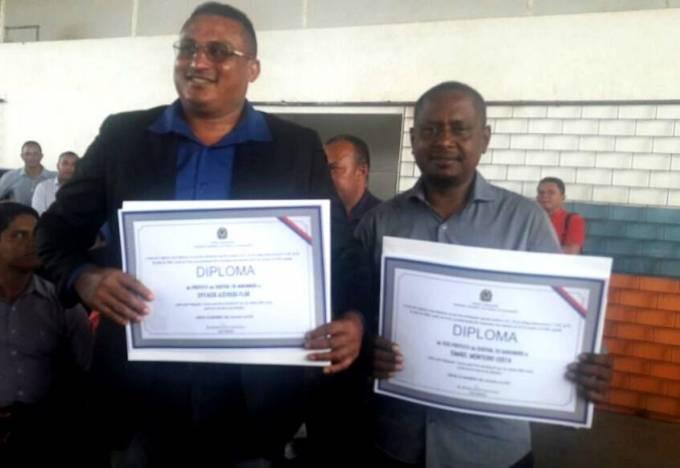Central do MA- Prefeito eleito, Epitácio (PSD), o vice-prefeito, Ismael Monteiro (PSDB)