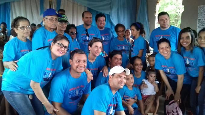 Equipe que participou da  Ação realizada no povoado Quilombo Jamari dos Pretos.