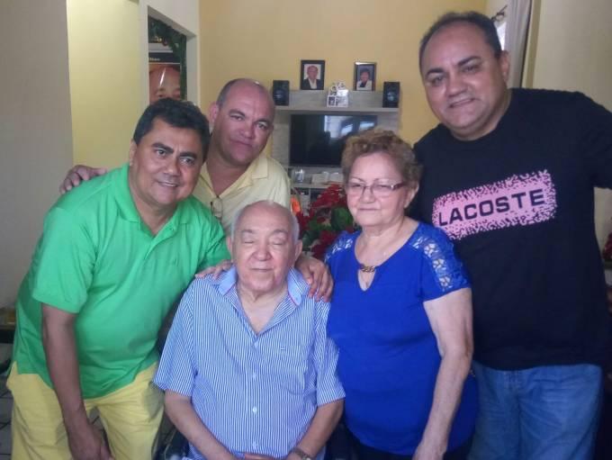 lávio Braga com o casal Isaac e Bitinha, Isaney e Isaac Filho