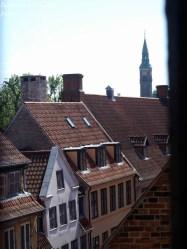 Udsigt fra vindue i Rundetårn, København