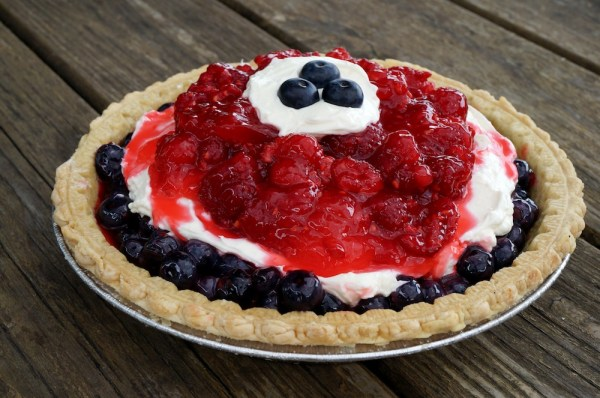 Red White & Blueberry Pie Smaller