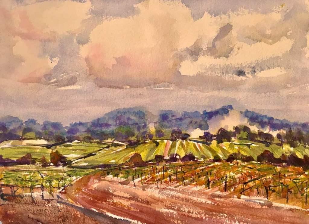 Georgia Mansur watercolour landscape