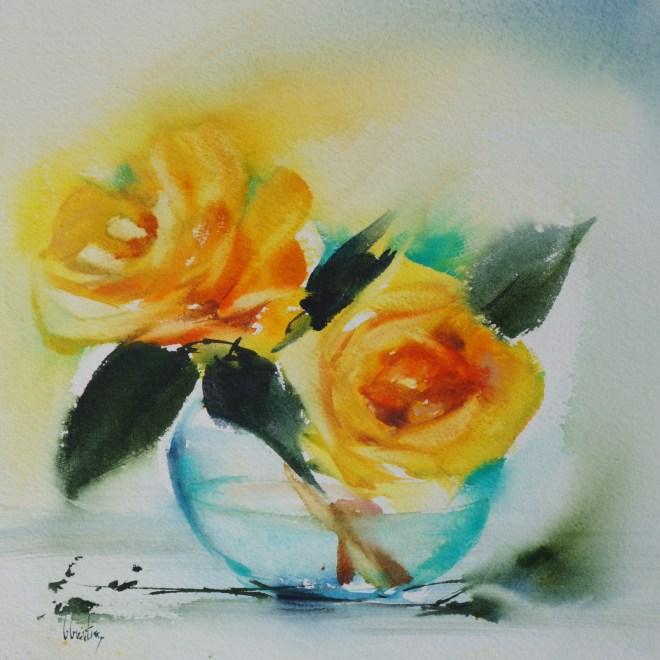 Yellow roses by Olivia Quntin