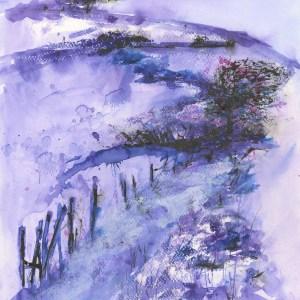 Cornish Fields by Vandy Massey. 33 x 43 cm. Mixed media on paper