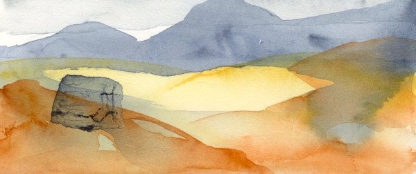 A Murmer of Loneliness by Vandy Massey. 24 x 10 cm. Watercolour on paper.