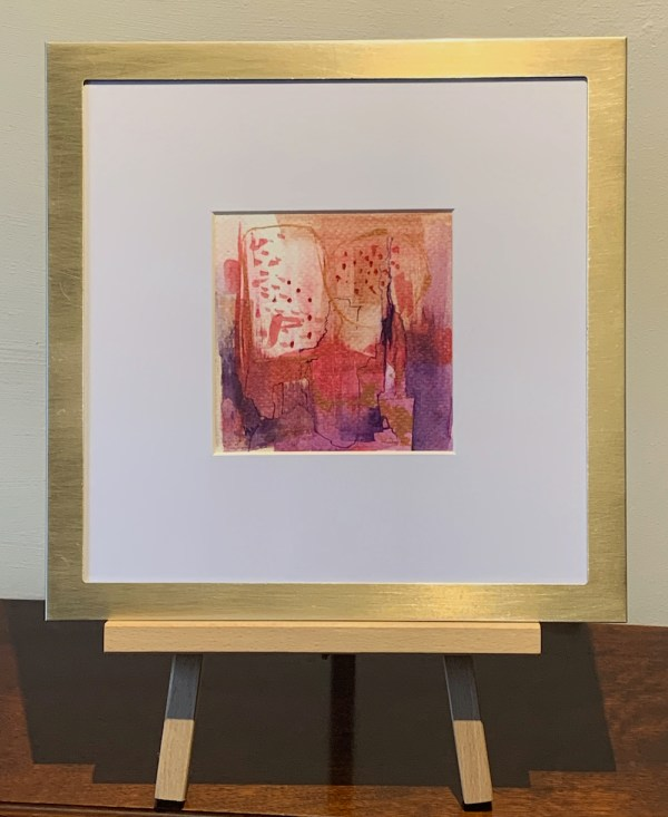 Little Abstracts in brushed brass frames