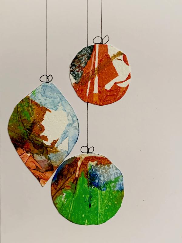 Christmas bauble card design 2