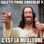 Galette des rois amande, poire et chocolat noir
