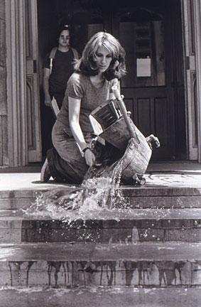 black-and-white photo of doing maintenane