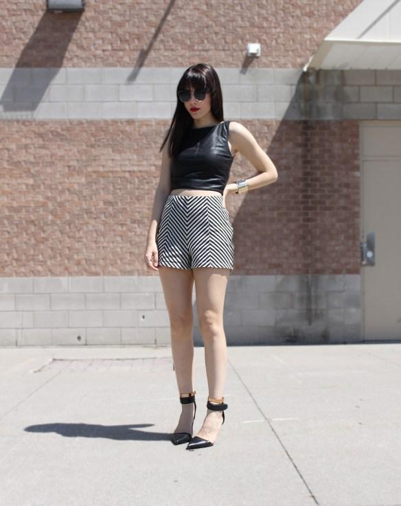 chevron shorts 2