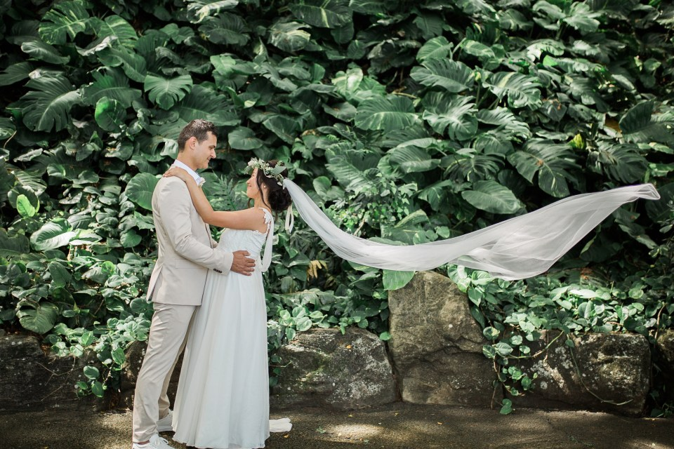 Tropical Wedding at Kualoa Ranch Hawaii