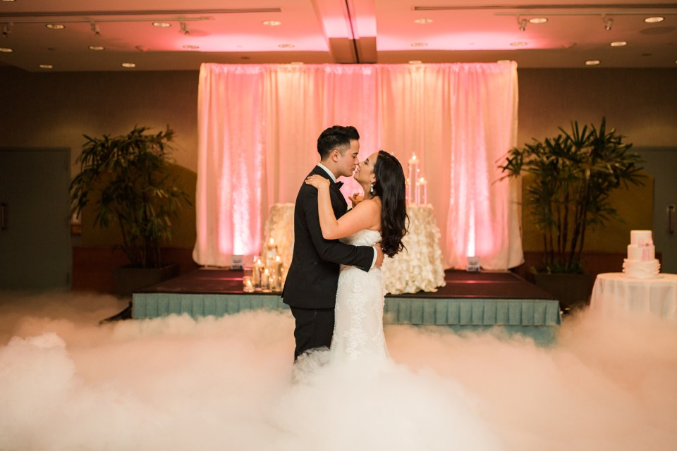 Hilton Waikiki Beach Wedding with Dry Ice Dance