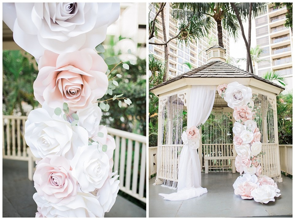 paper floral decor for weddings