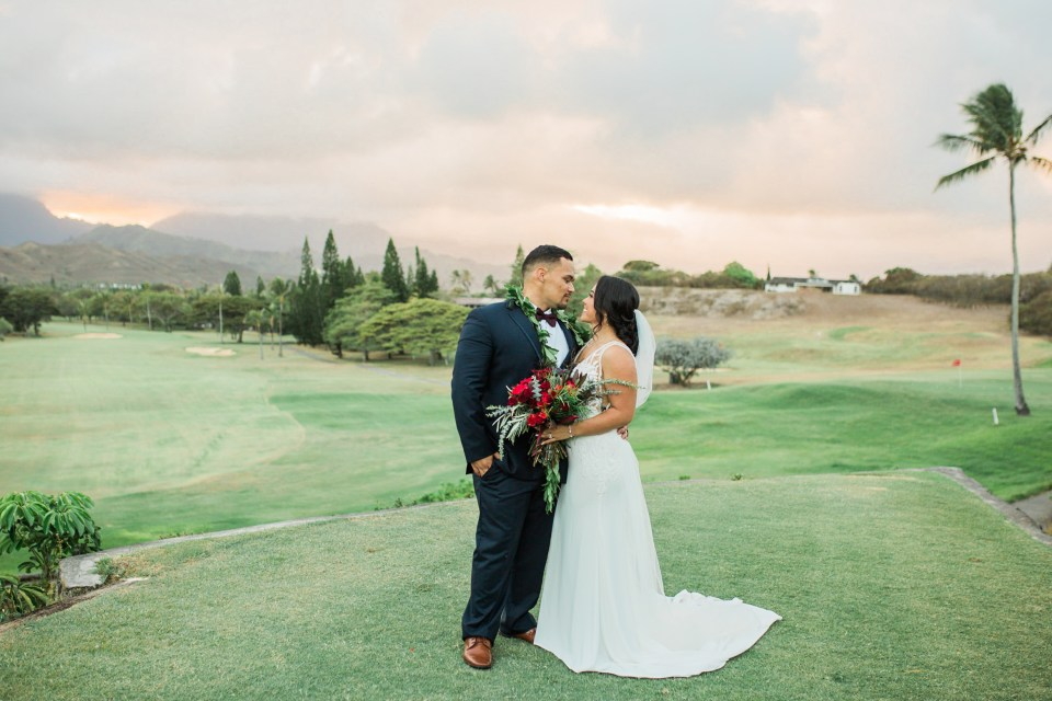 Mid Pacific Country Club Golf Course Wedding