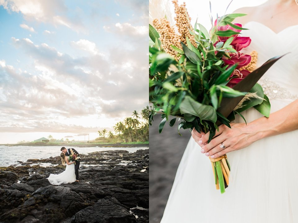 Black Sand Beach Big Island Wedding