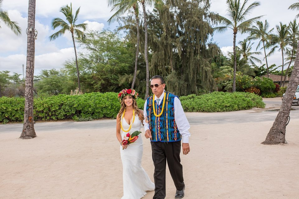Hawaiian Wedding at a Luau