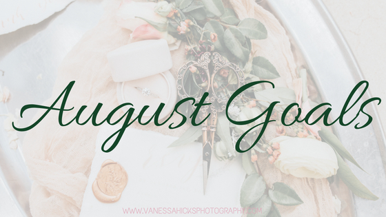 August Goals Vanessa Hicks Photography