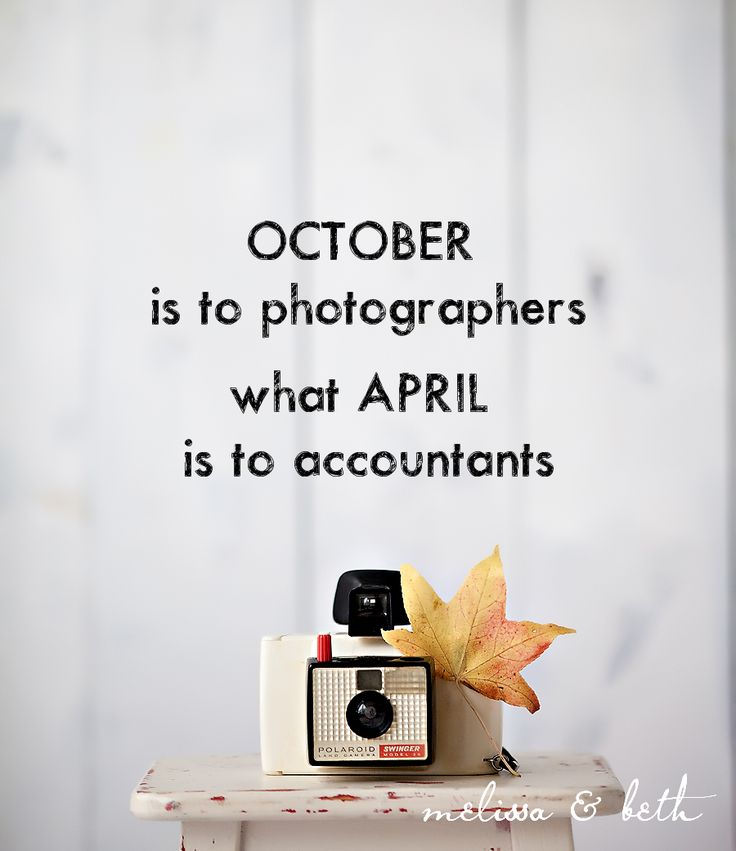 Photography Goals for October