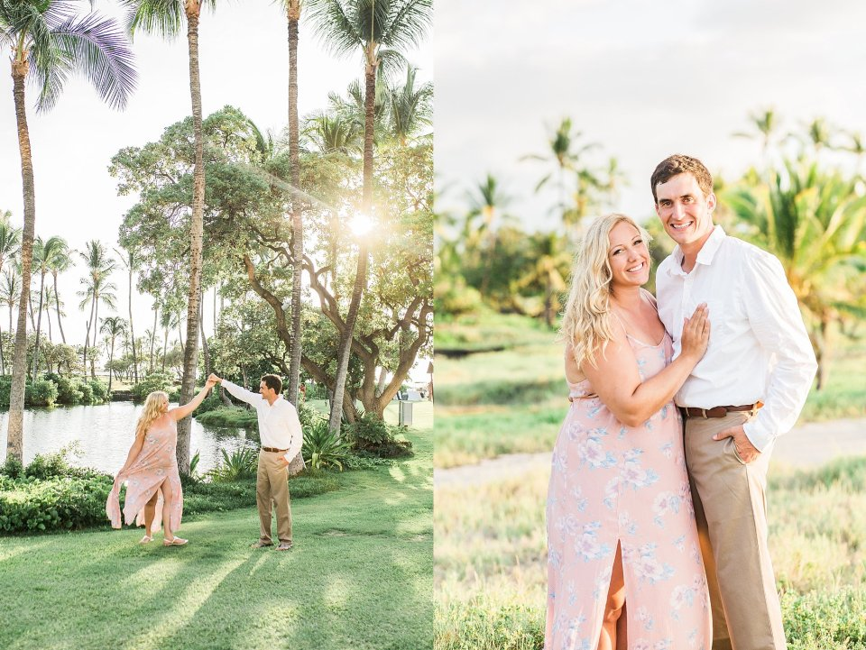 sunset engagement session in Hawaii