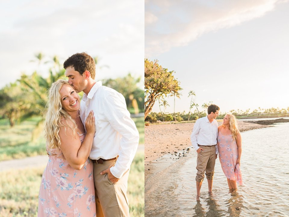Hawaii Sunset Beach Engagement Session