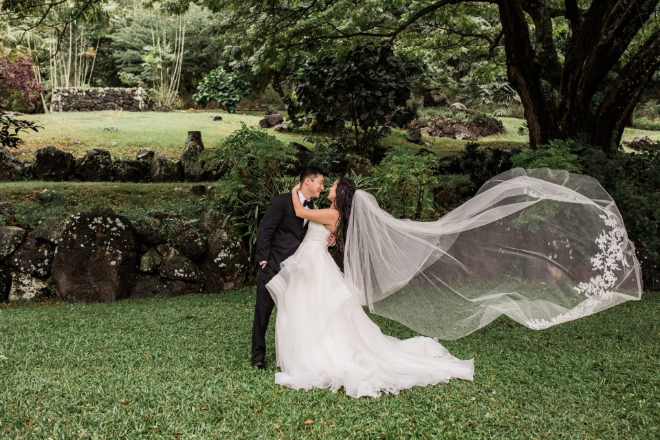 Cathedral Veil Kualoa Ranch Wedding
