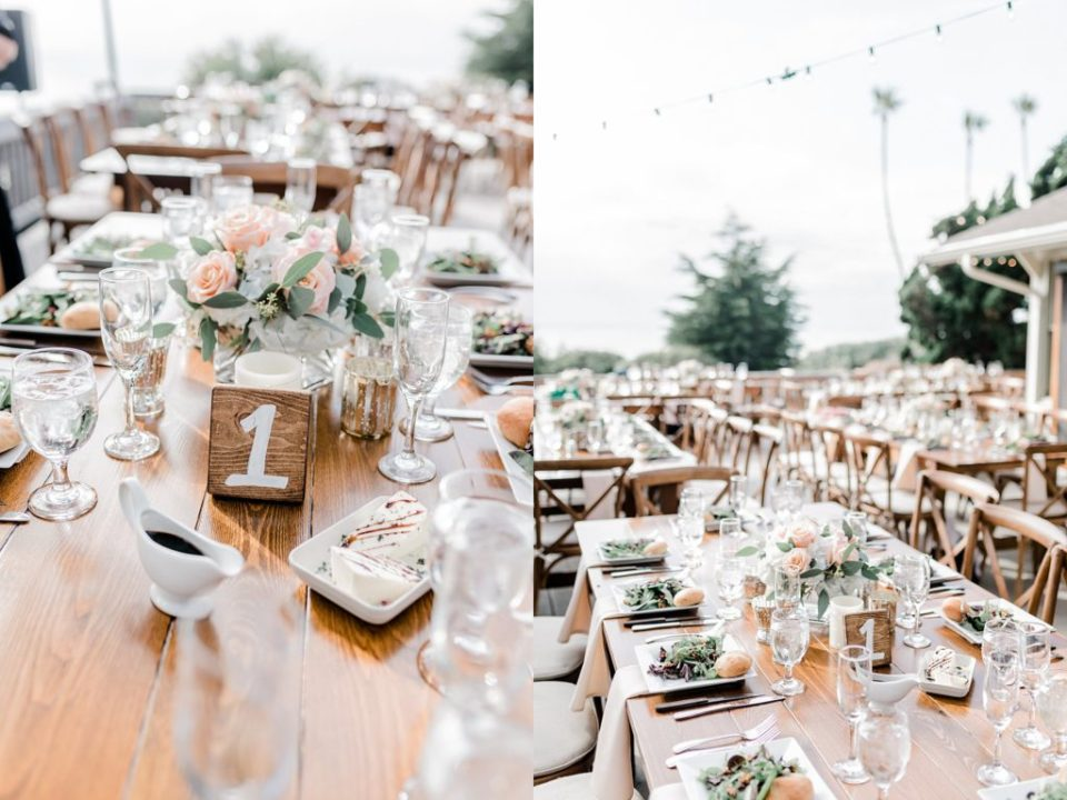 outdoor ceremony details at Martin Johnson House